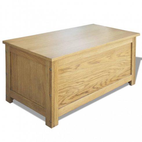 Tömör tölgyfa tárolóláda 90 x 45 x 45 cm