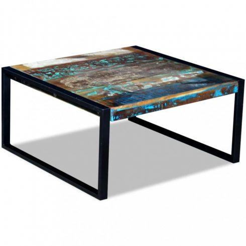 Újrahasznosított tömör dohányzóasztal 80x80x40 cm