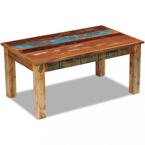 Tömör újrahasznosított fa dohányzóasztal 100x60x45 cm