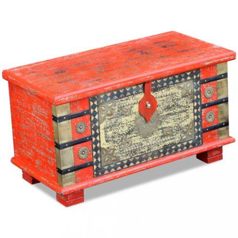 Piros mangófa tárolóláda 80x40x45 cm