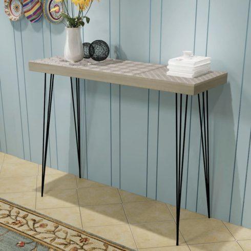 Konzolasztal szürke 90x30x71,5 cm