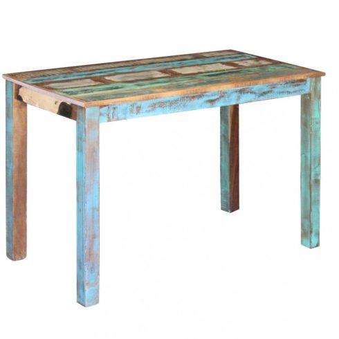 Tömör újrahasznosított fa étkezőasztal 115x60x76 cm