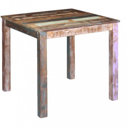 Tömör újrahasznosított fa étkezőasztal 80x82x76 cm