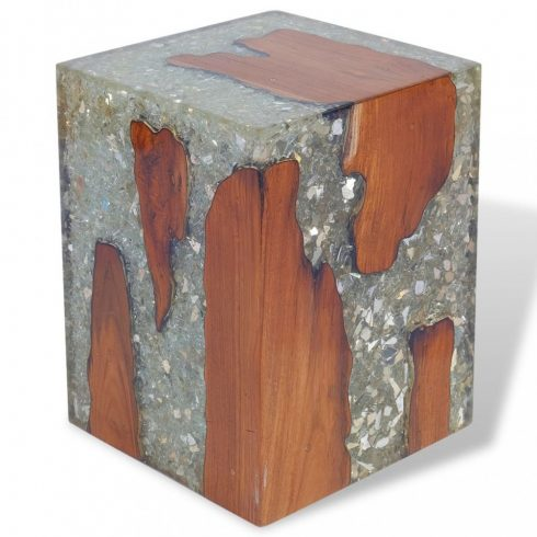 Gyantázott tíkfa szék 30x30x40 cm