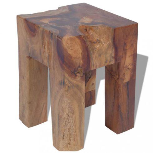 Tömör tíkfa szék 30x30x40 cm