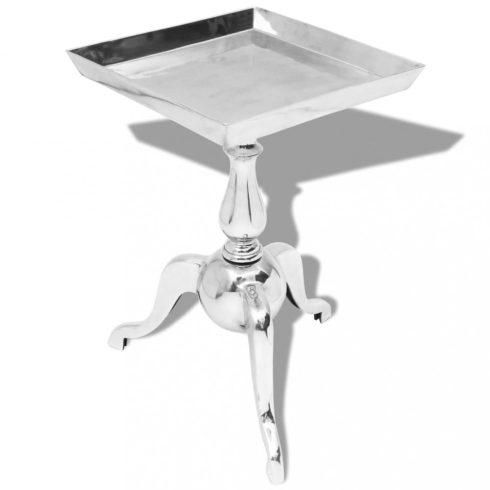 Ezüst alumínium négyzet alakú kis-asztal