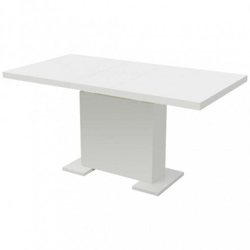 Magasfényű kihúzható étkezőasztal fehér