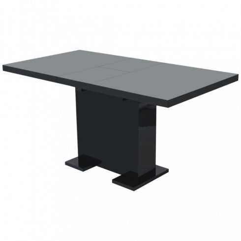 Magasfényű fekete kihúzható étkezőasztal