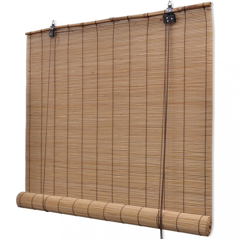 Barna bambusz szőnyeg 160 x 230 cm Valora Webáruház
