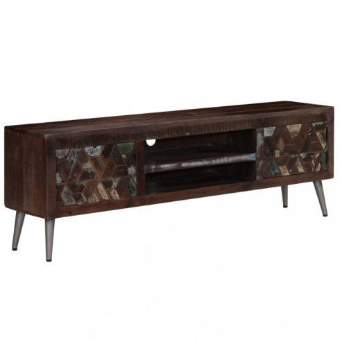 Tömör újrahasznosított fa tv-szekrény 140 x 30 x 45 cm