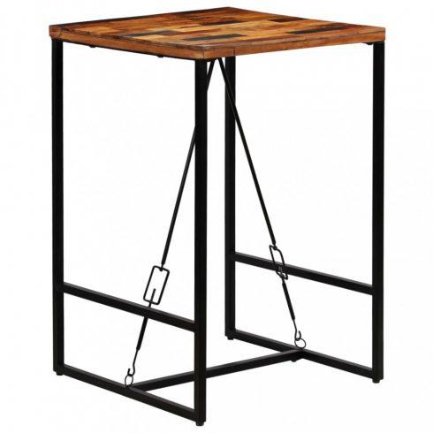 Újrahasznosított tömör fa bárasztal 70 x 70 x 106 cm