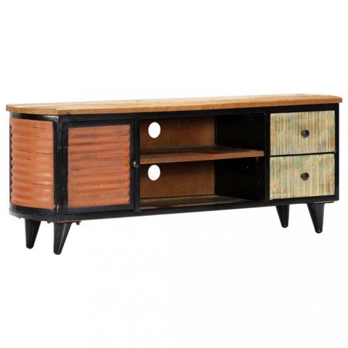 Tömör újrahasznosított fa tv-szekrény 120 x 30 x 45 cm